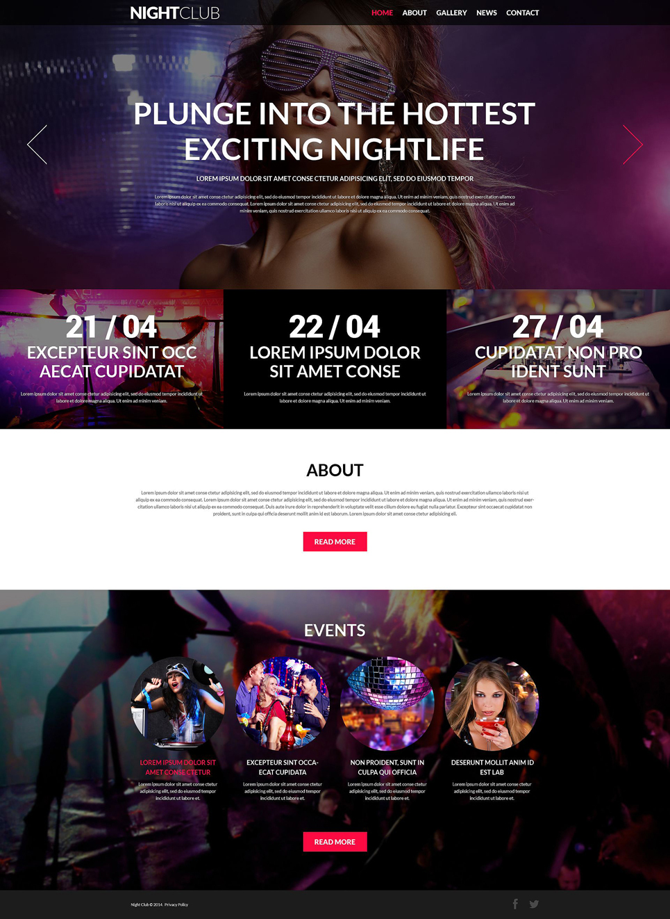 joomla empty template - nightclub joomla template