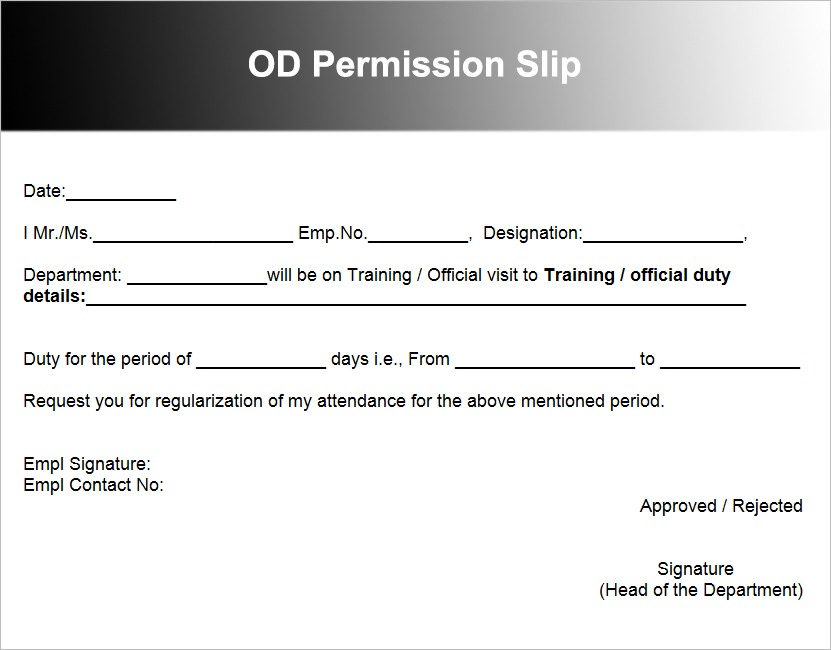 Sample permission slips akbaeenw sample permission slips spiritdancerdesigns Image collections