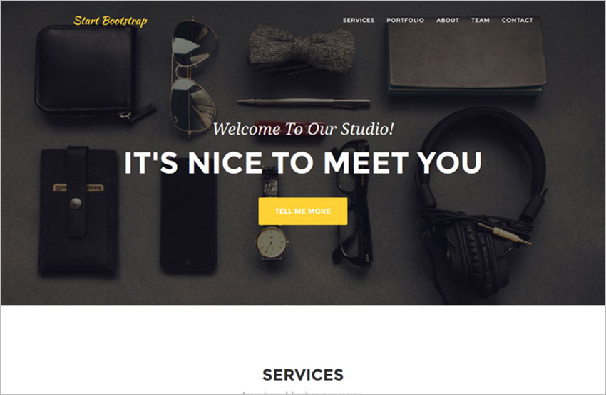 One Page Bootstrap Landing Page