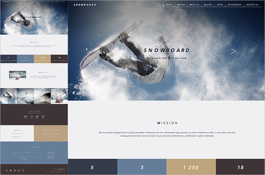 One Page Gallery Bootstrap Template