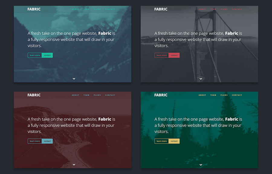One Page Website Template With PHP