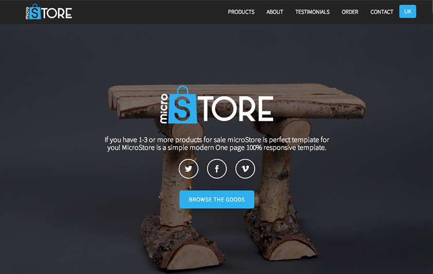 OnePage eCommerce Theme jQuery Powered