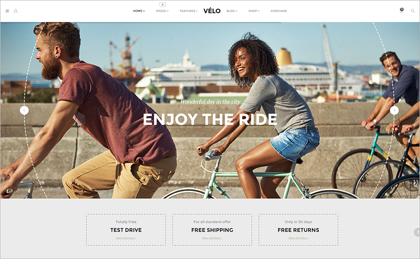 Online Bike Store Responsive WooCommerce Business Theme