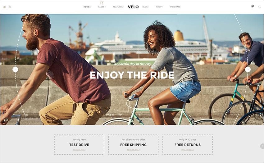 Online Bike Store Responsive WooCommerce Business Theme