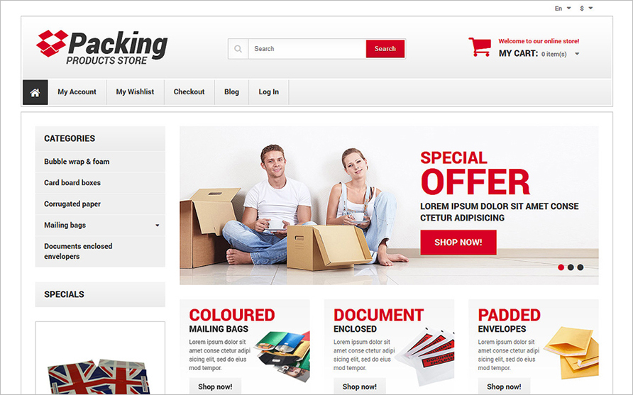 Online Business Responsive Magento Theme