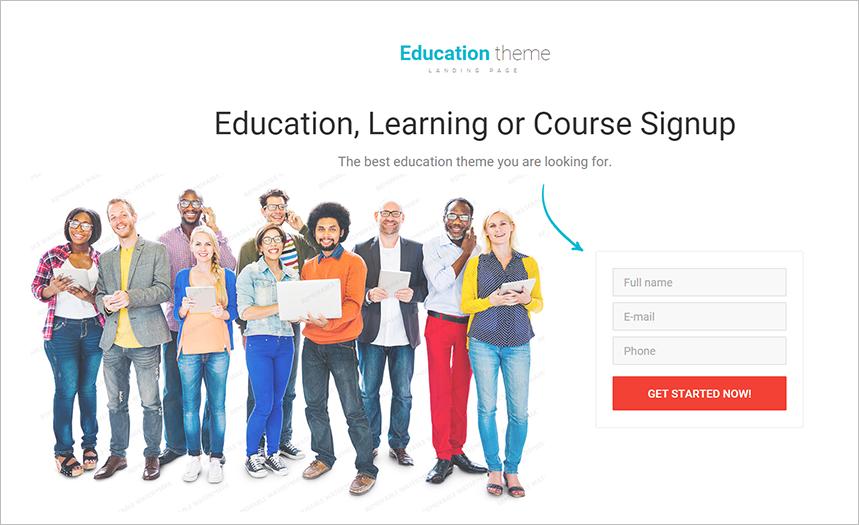 Online Course WebSite Template