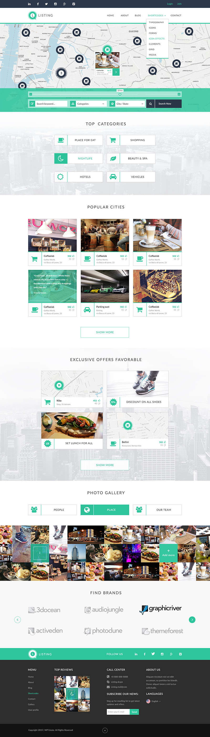 Online Directory & Listing Website PSD Template