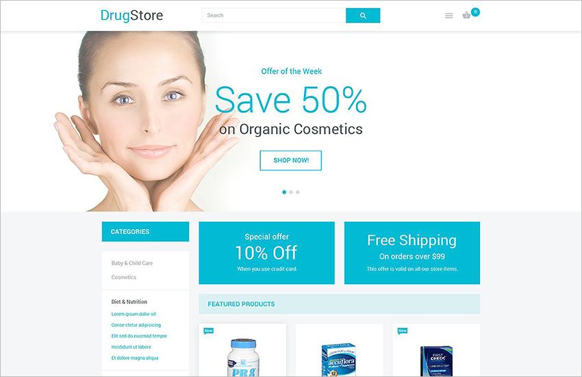 Online Drugstore Magento Theme