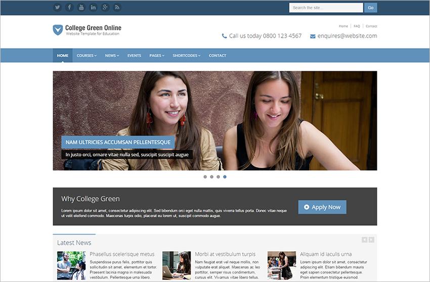 Online Educational WebSite Template
