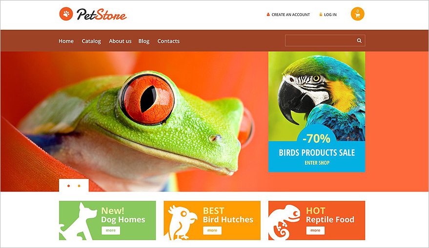 Online Pet Store VirtueMart WebSite Template