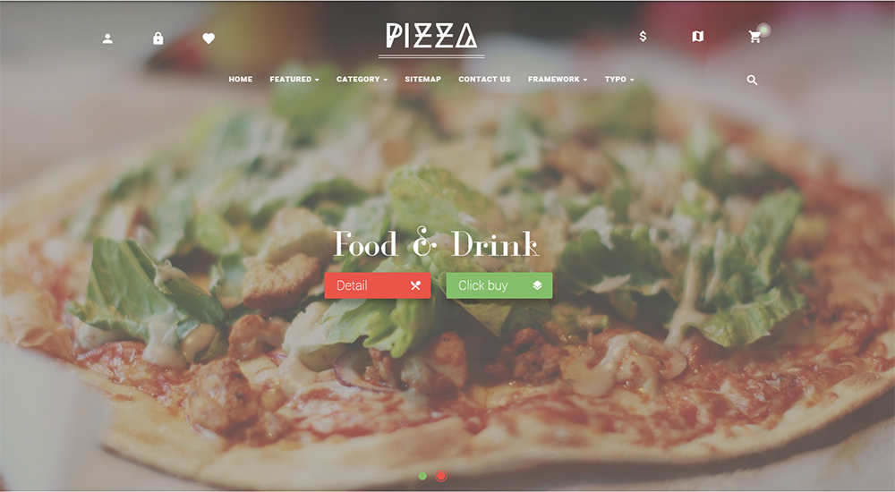 Online Pizza Store Prestashop Theme