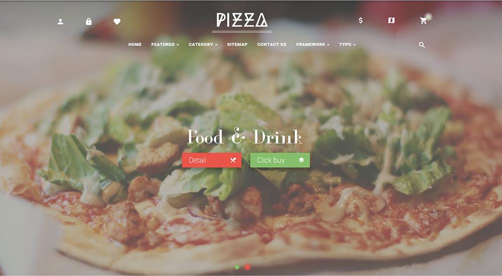 Online Pizza Store Prestashop Theme