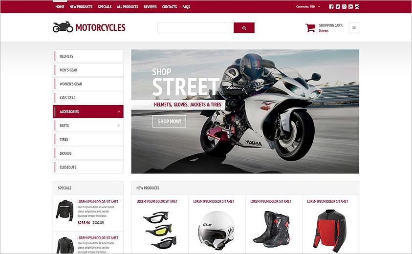 Online Shop ZenCart Template