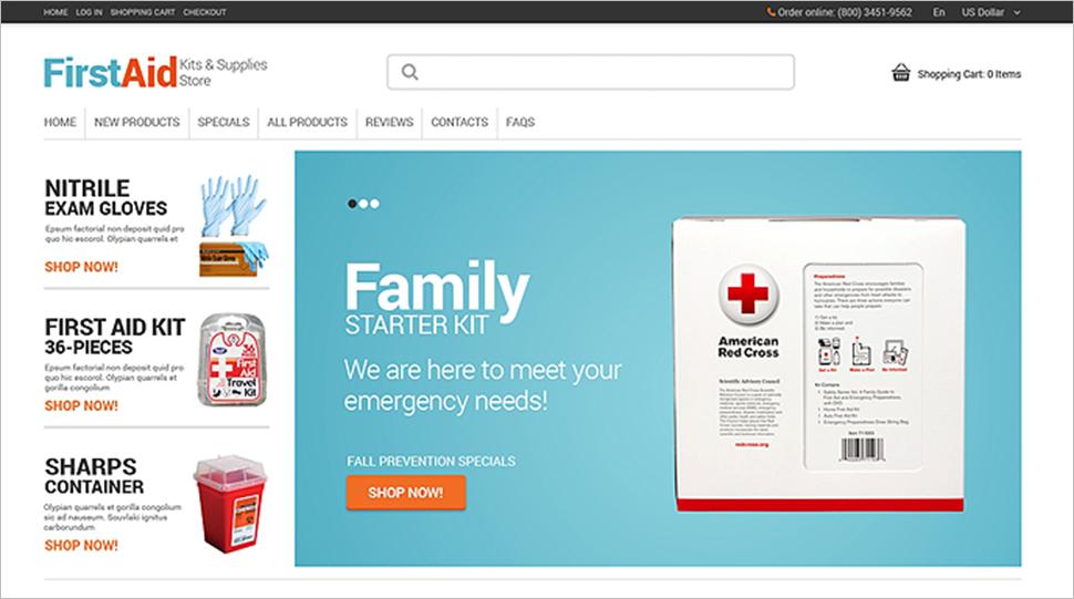 Online Store ZenCart Template