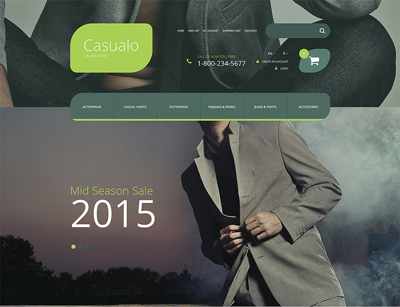 OpenCart Template for Cloth Store