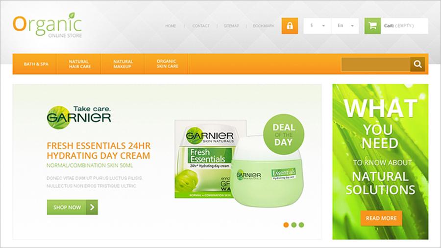 Organic Cosmetics & Beauty Store PrestaShop Template