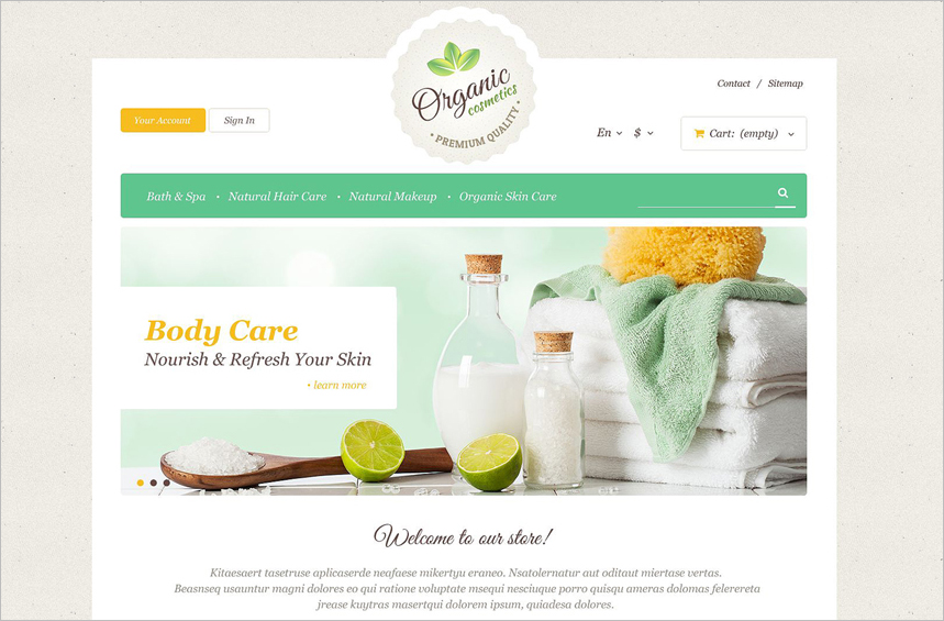 Organic Skin Care PrestaShop Theme