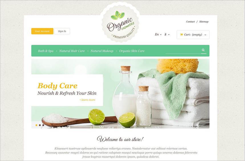 Organic Skin Care PrestaShop Theme