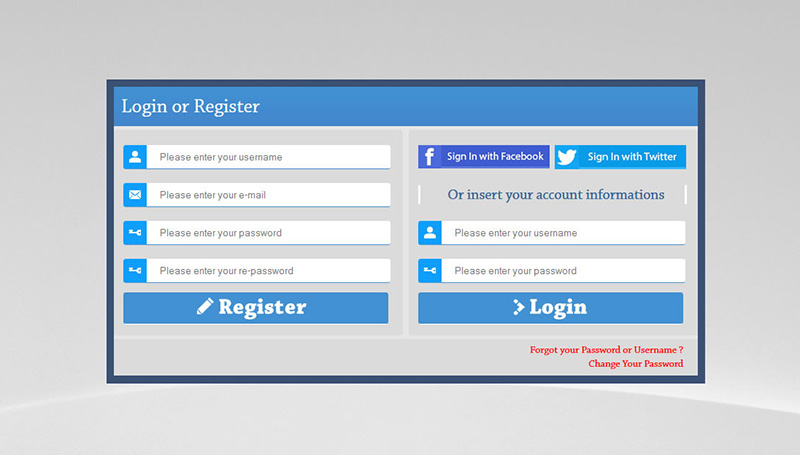 PHP AJAX Login & Register Form Template