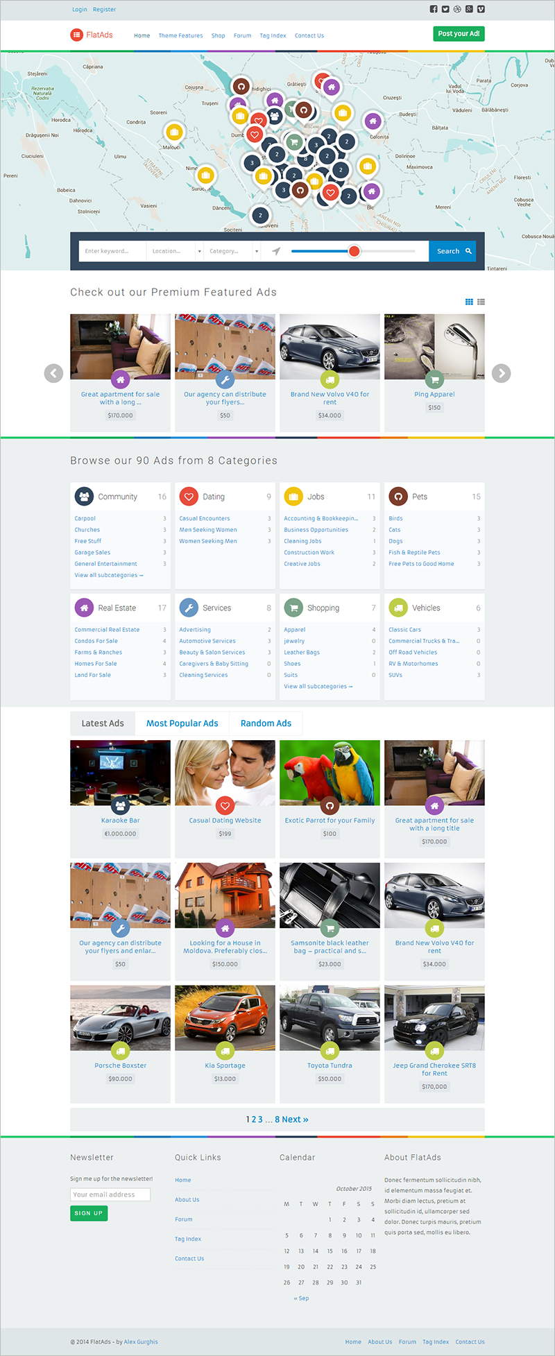 PHP Directory & Listing Website Template