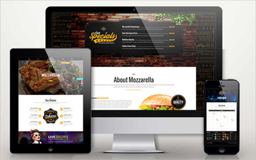 PHP & HTML Restaurant Template