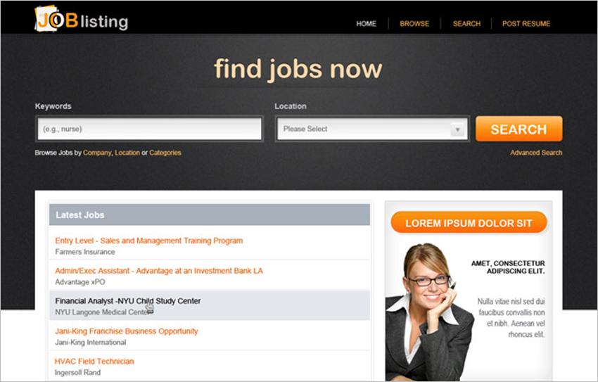 PHP Job Seacrh Web Template