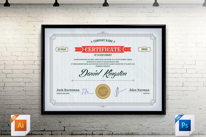 free download certificate design