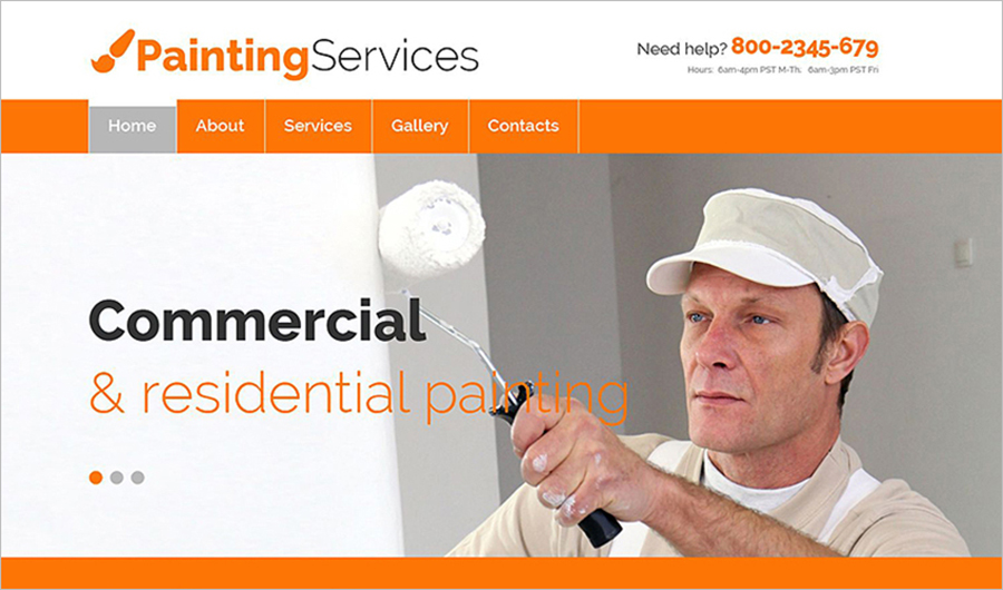 Painting Company Responsive Bootstrap HTML Website Template