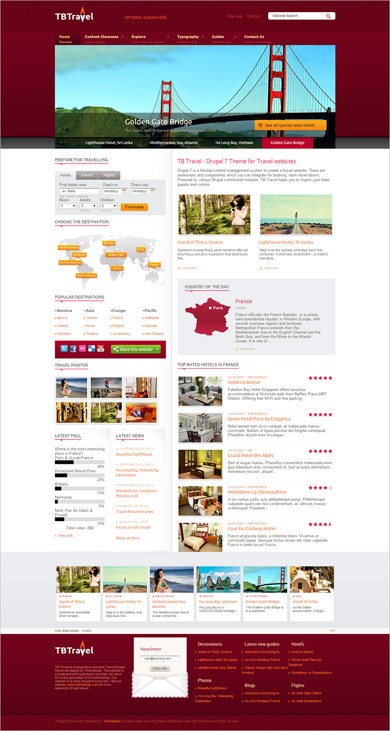 Perfect Drupal Template for Travel