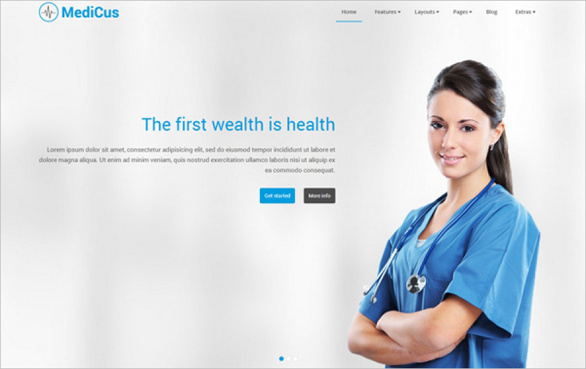 Perfect Joomla Template for Hospitals, Clinics, Private practices Or Health Care Providers