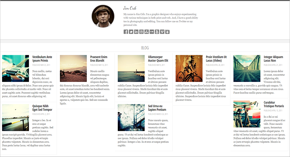 Personal Blog Template Built On HTML 5 & CSS 3