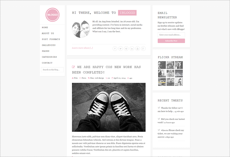 Personal Blog Template With Amazing jQuery Effects And Script
