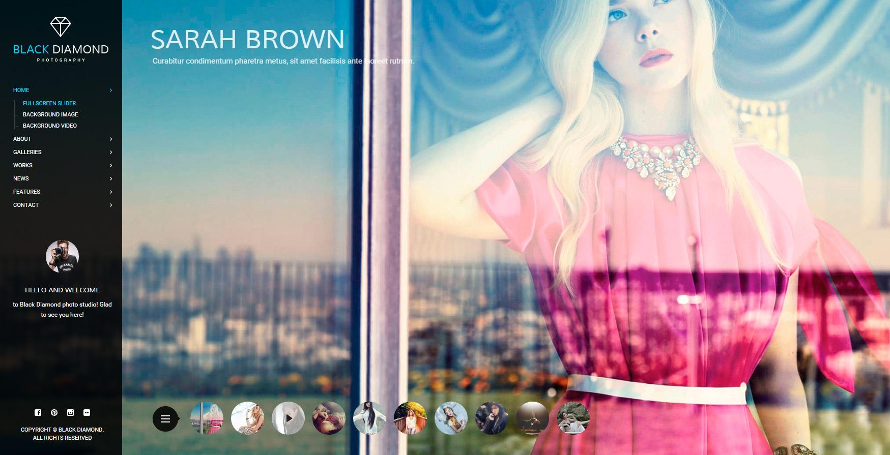 Personal Portfolio Website for Photographer