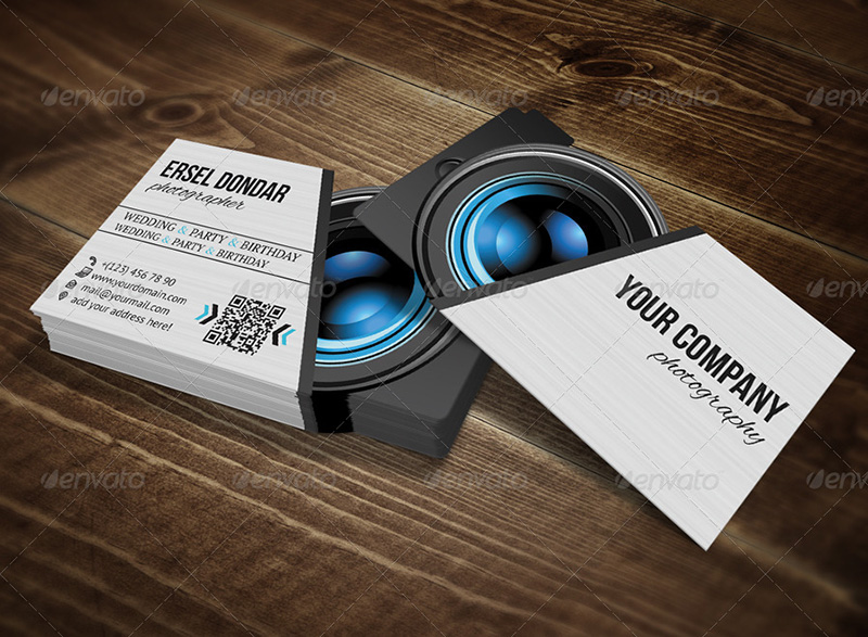 Photographer Business Card Template Photoshop