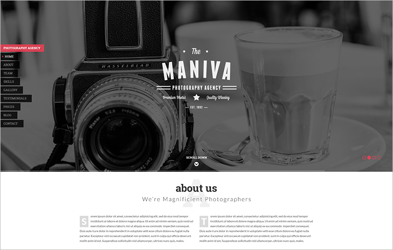 Photography Agency HTML Template