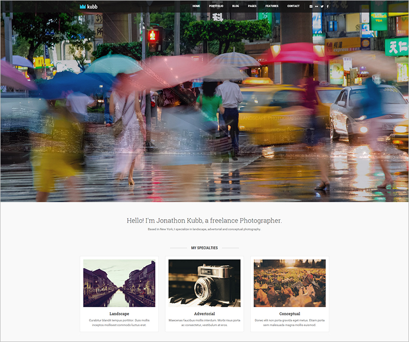 Photography & Magazine HTML5 Template