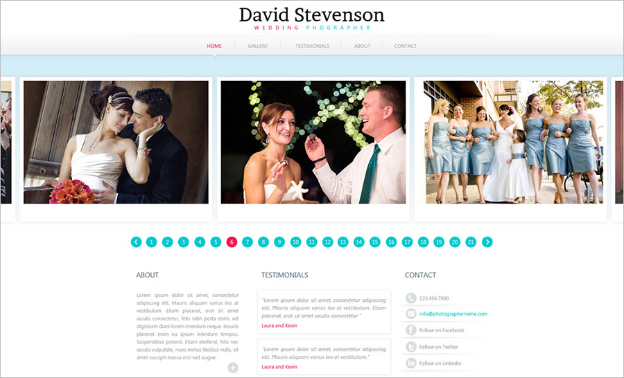 Photography Website Template With PHP