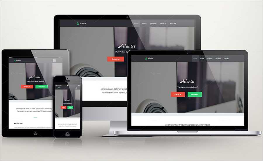 Portfolio Template With PHP Form