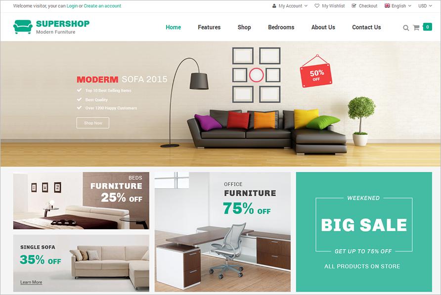 Premium Furniture Magento Theme