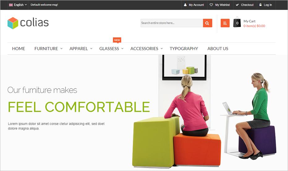 Premium Furniture Responsvie Magento Template