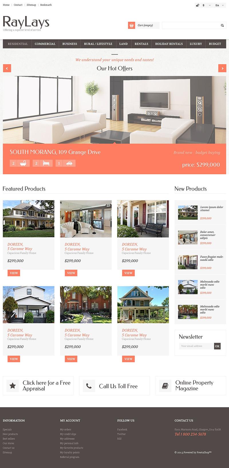 Prestashop Real Estate Theme