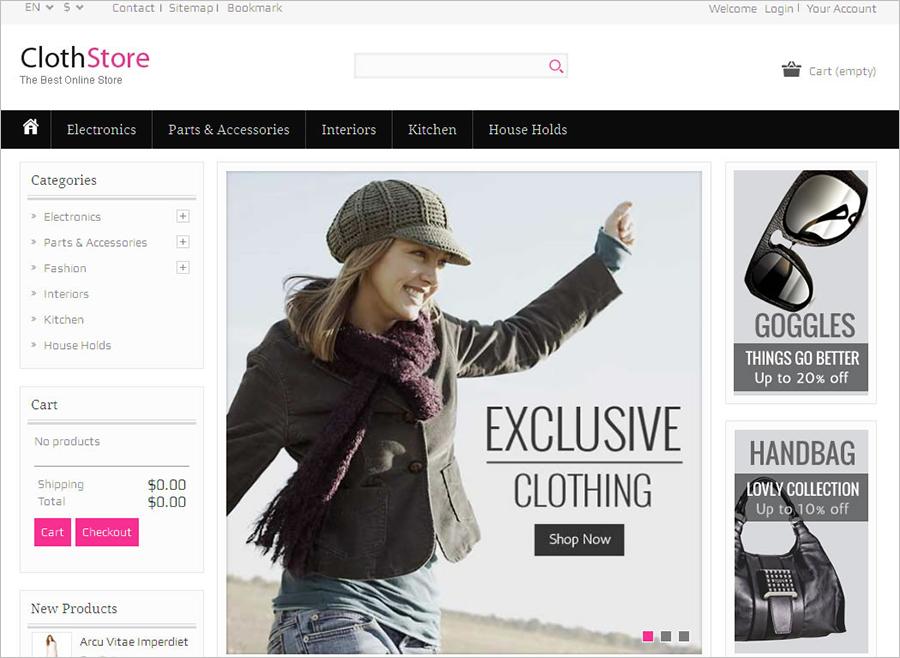 Prestashop Responsive Fashion Cloth Store Template