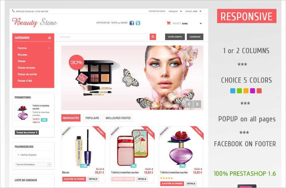 Prestashope Beauty Store Template