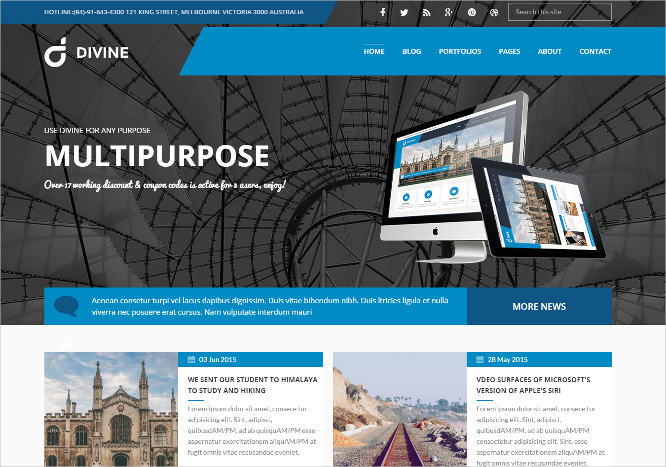 Professional Business Drupal 7 Theme