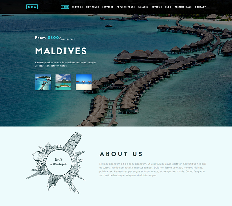 Professional Travel & Tour Agency Drupal Theme