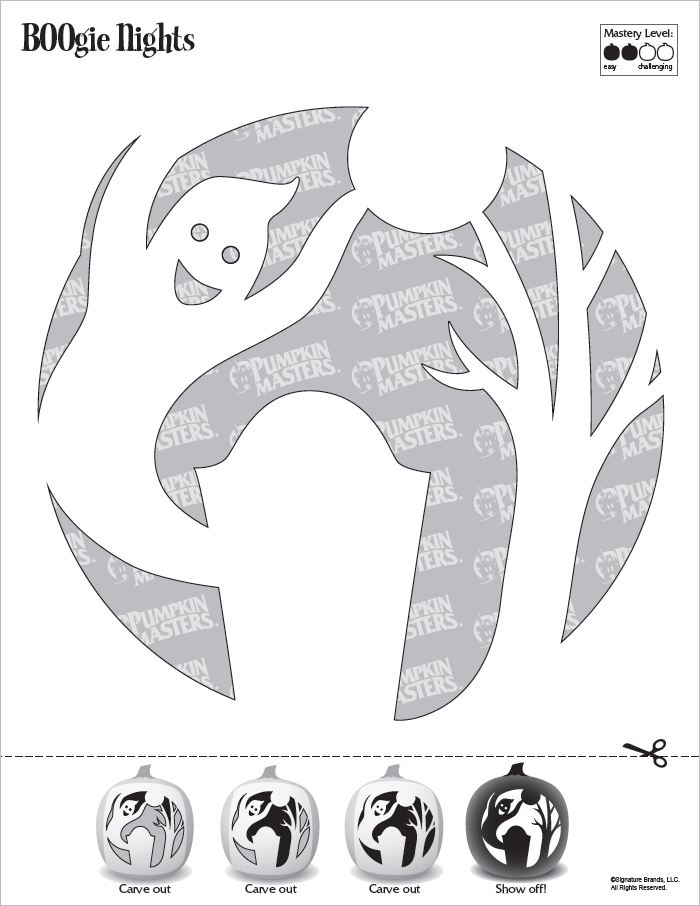 Pumpkin Carving Boogie Man Pattern PDF