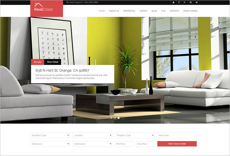 Real Estate & Business Drupal Theme