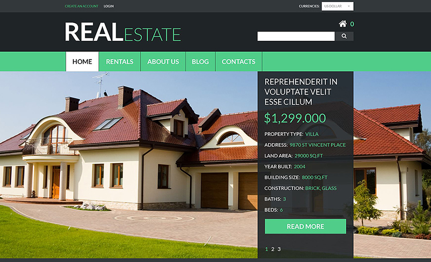 Real Estate Services VirtueMart Theme