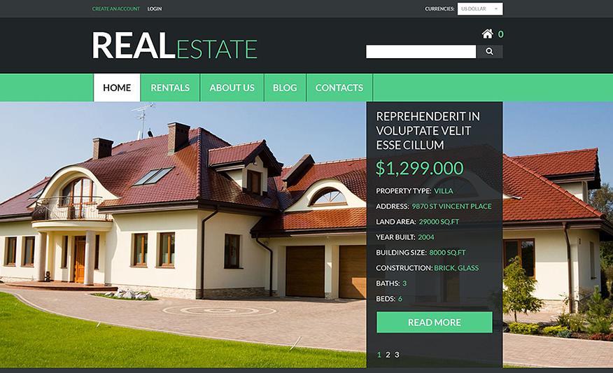 Real Estate Services VirtueMart Theme