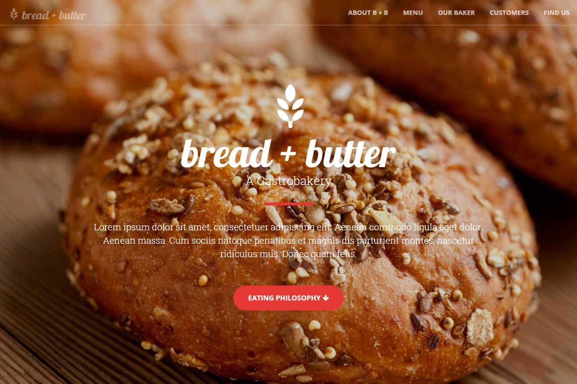 Responsive Bakery & Cafe Bootstrap Theme